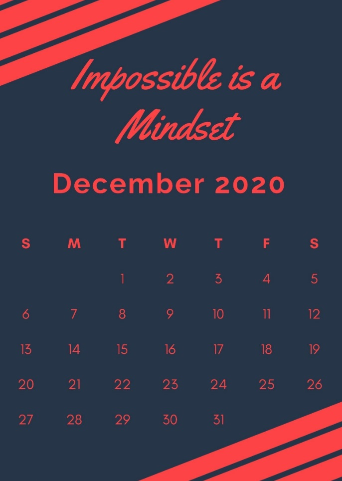 Beautiful December 2020 Quotes Calendar