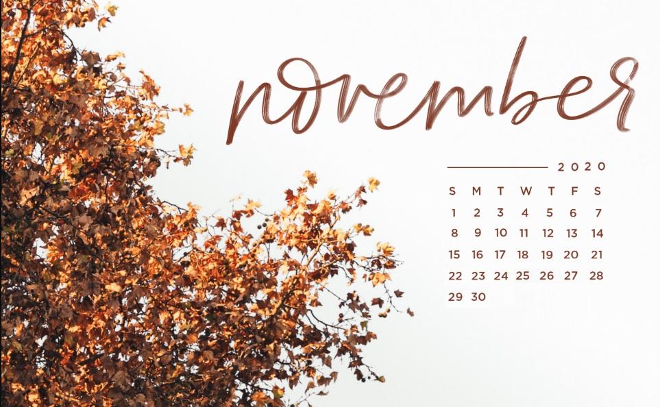 Beautiful November 2020 Desktop Wallpaper