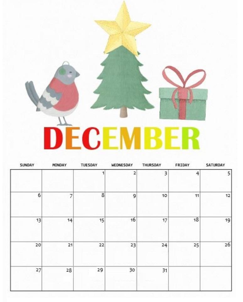 Cute December 2020 Calendar Designs