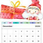 Cute Santa December 2020 Calendar Designs
