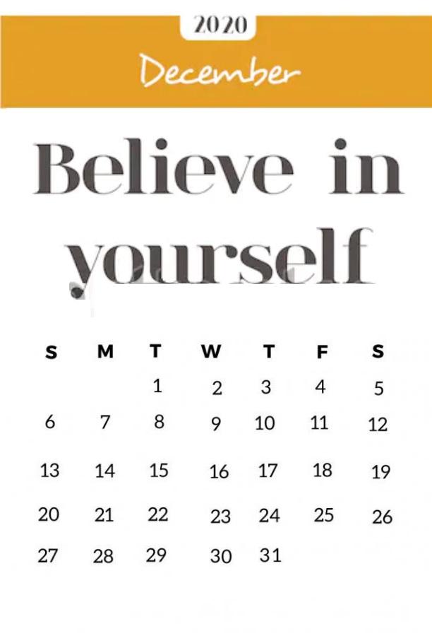 December 2020 Amazing Quotes Calendar