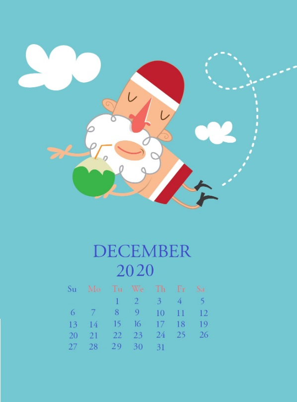 December 2020 Calendar Download