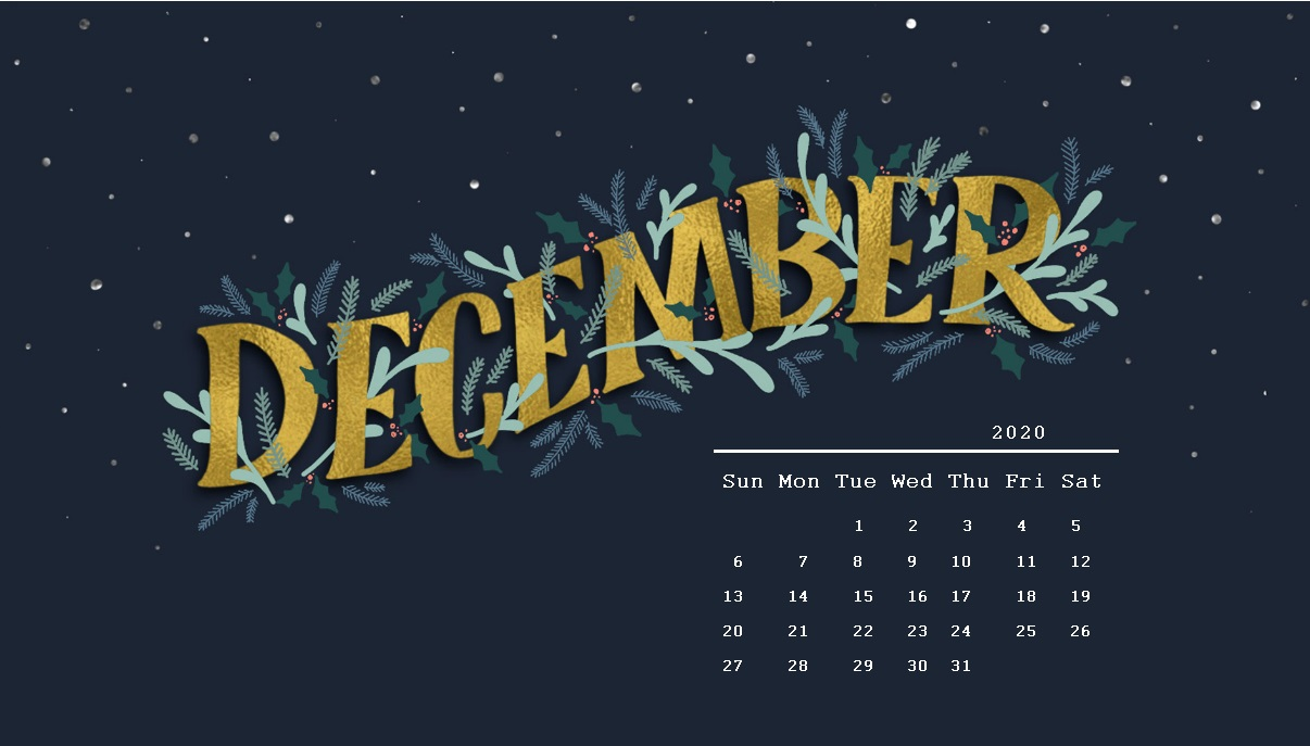 December 2020 Desktop HD Wallpaper