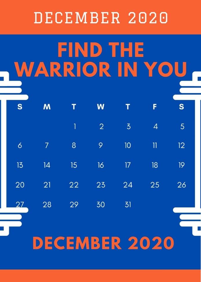 December 2020 Excellent Quotes Calendar