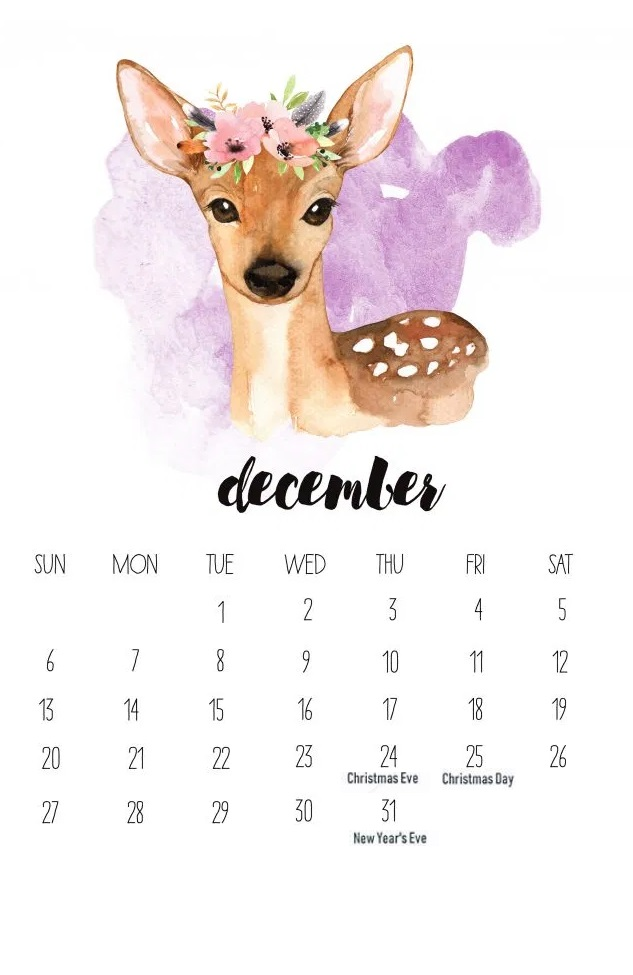 December 2020 Holidays Calendar Download
