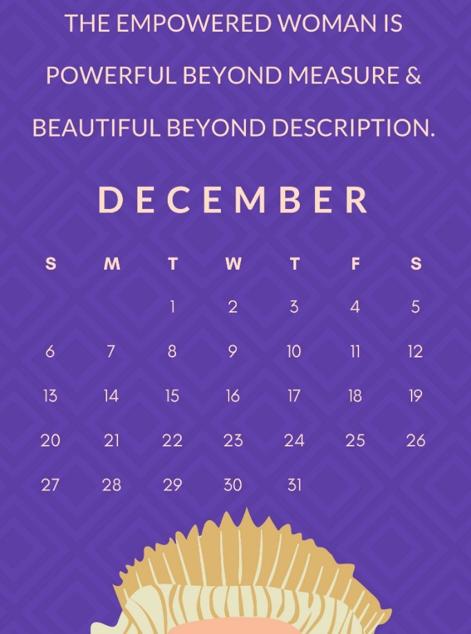 December 2020 Motivational Quotes Calendar