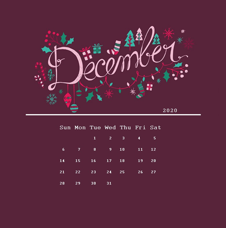 Elegant December 2020 Desktop Wallpaper