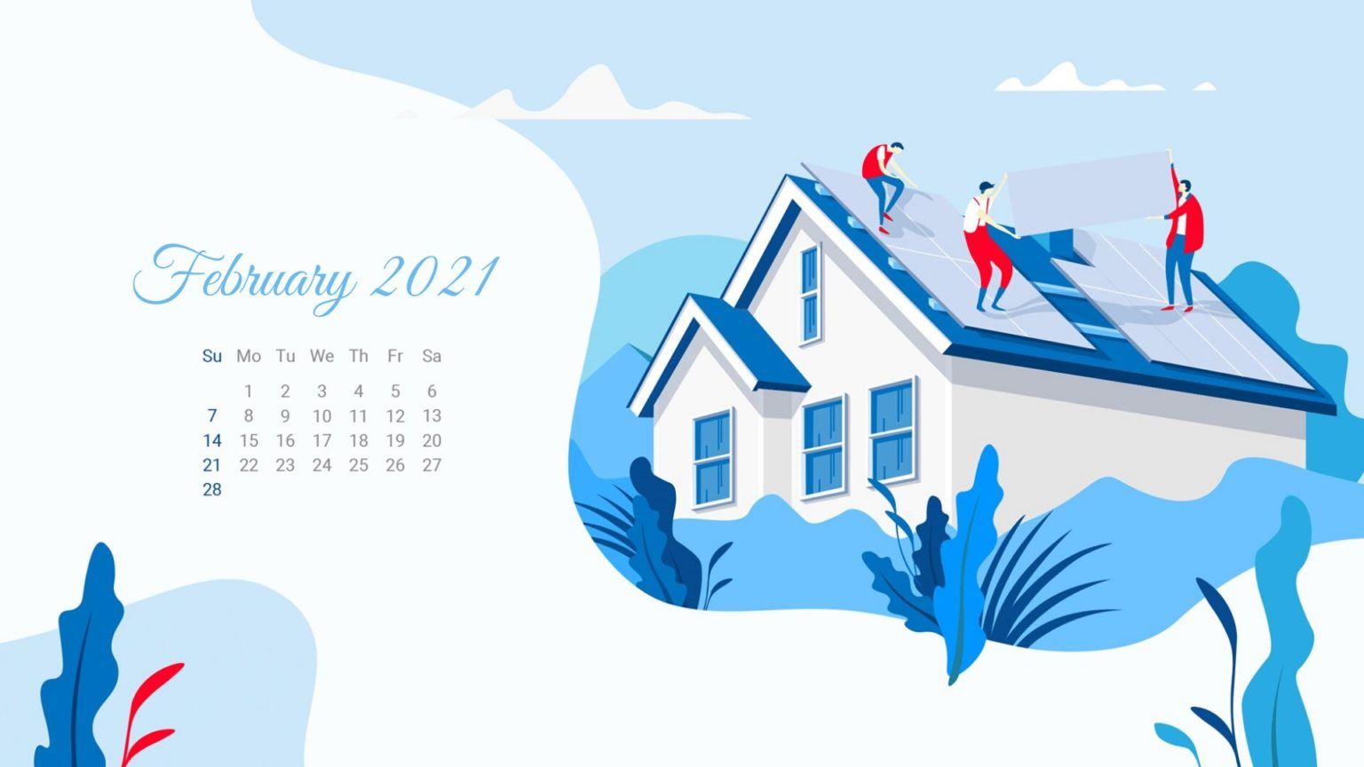 February 2021 Calendar Wallpaper Download