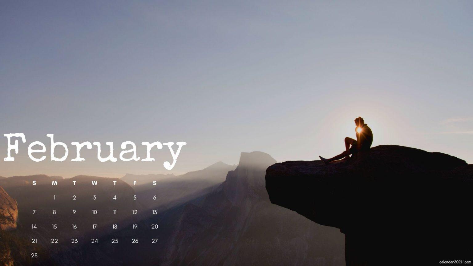 February 2021 Calendar Desktop Wallpaper