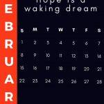 February 2021 Inspirational Calendar