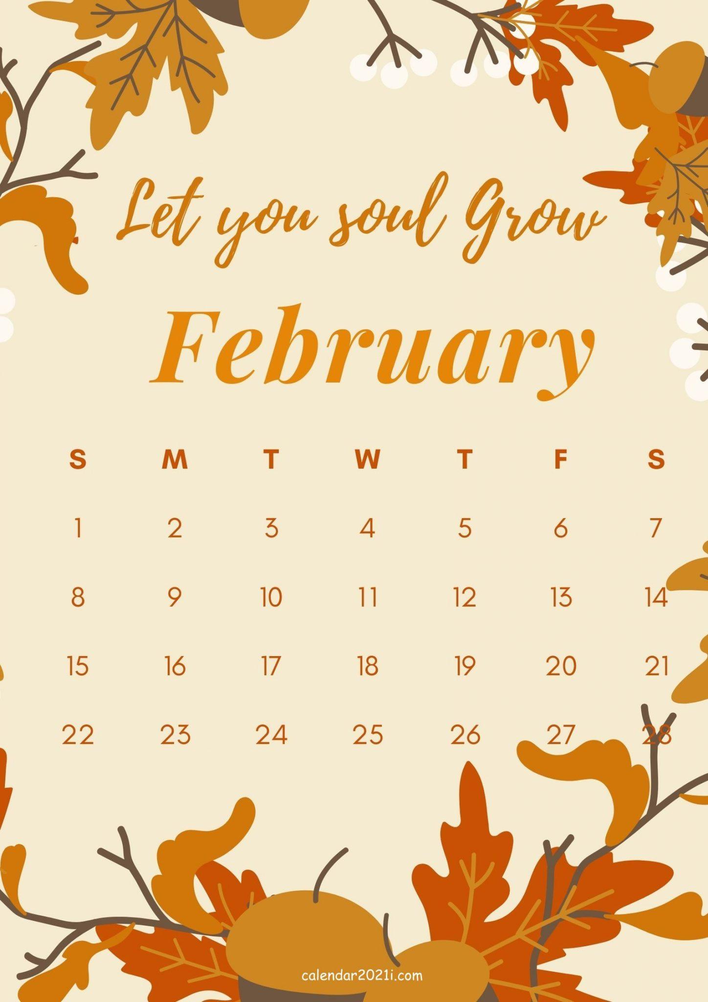 February 2021 Motivational Quote Calendar