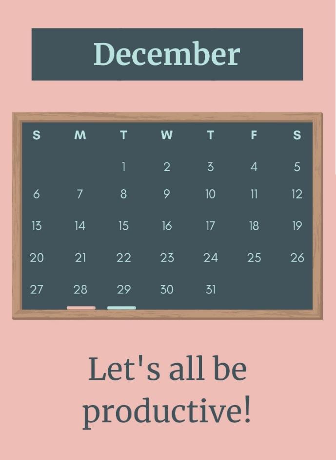 Free December 2020 Quotes Calendar