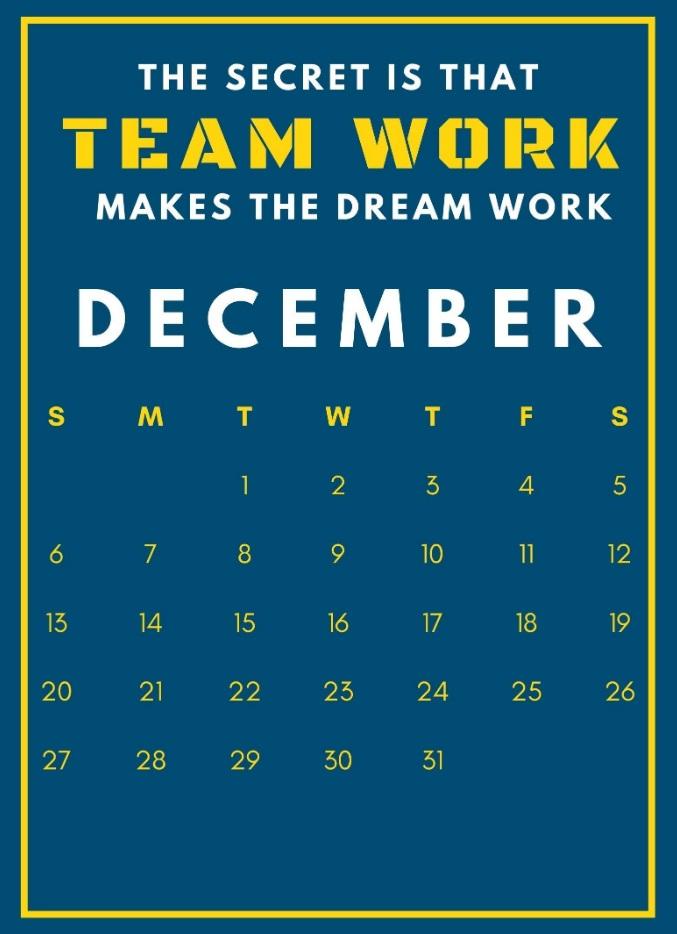 Inspiring December 2020 Quotes Calendar