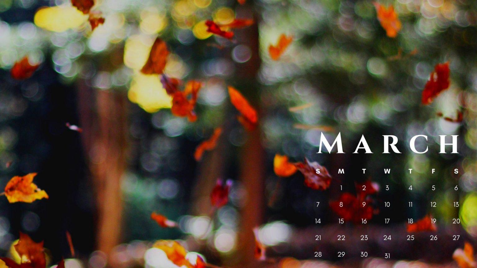 March 2021 Calendar Nature Wallpaper