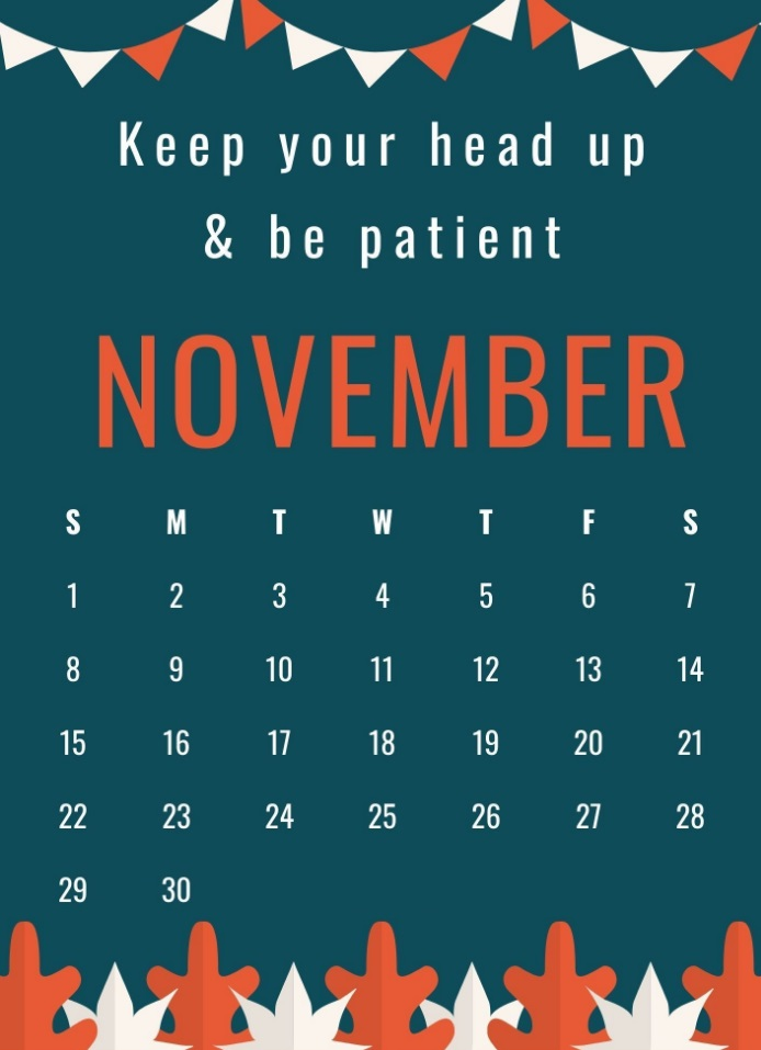 November 2020 Amazing Quotes Calendar