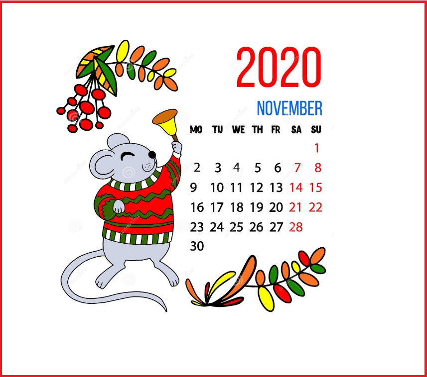 November 2020 Desktop Background Wallpaper
