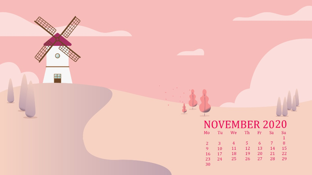 November 2020 Desktop Wallpaper Download