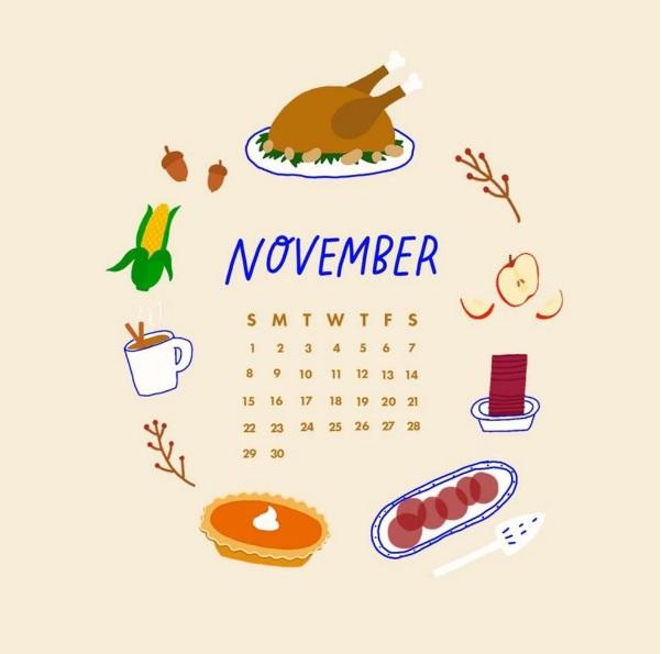 November 2020 Desktop Wallpaper