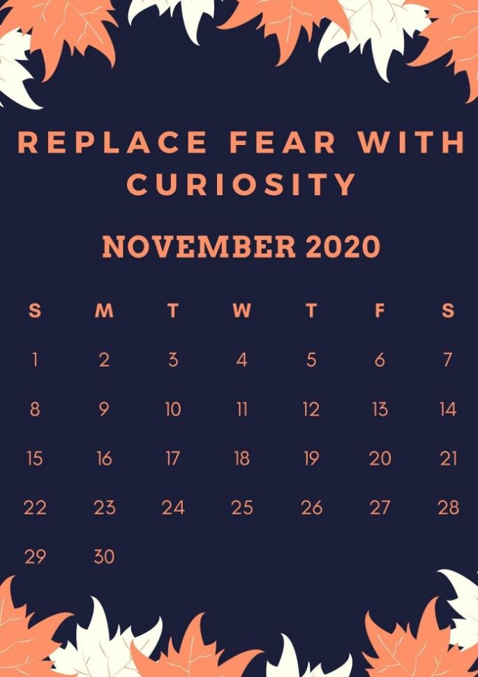 November 2020 Inspiring Quotes Calendar