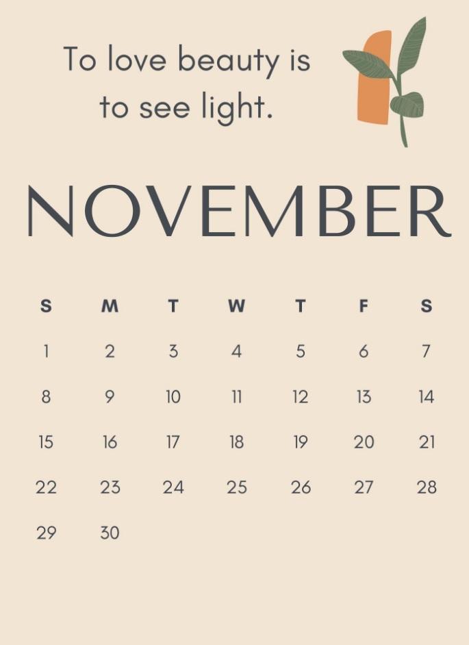 November 2020 Motivation Quotes Calendar