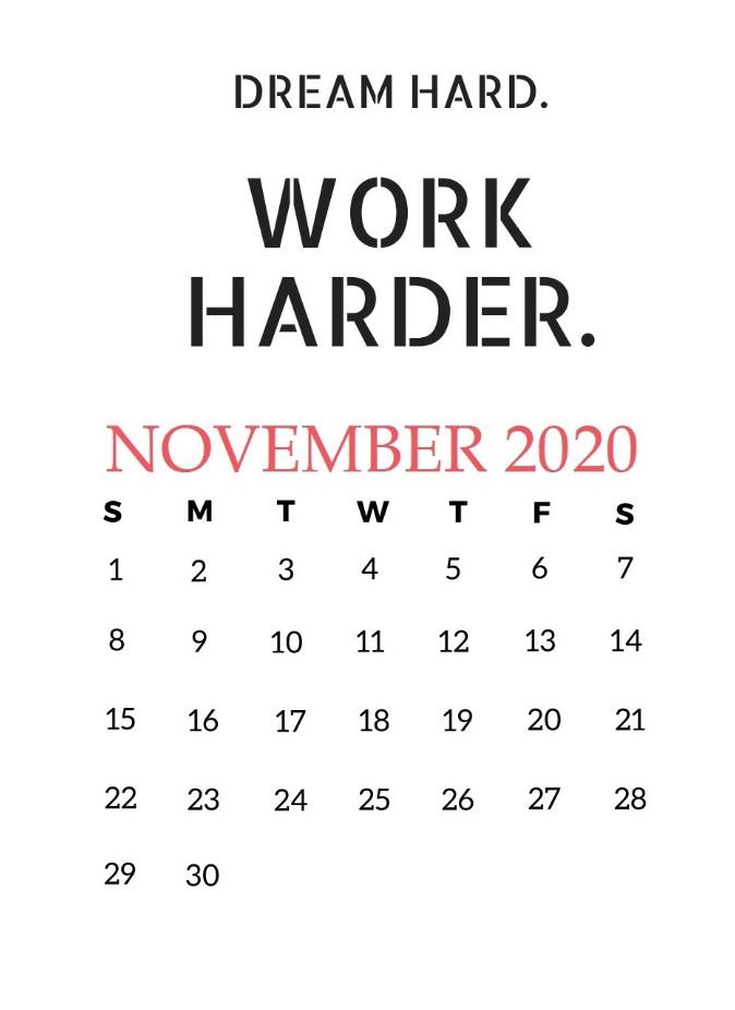 November 2020 Quotes Calendar Download