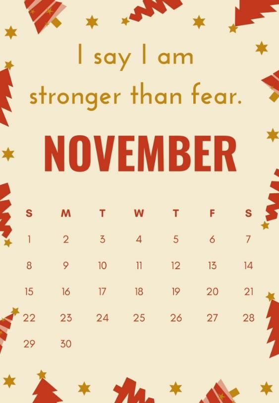 November 2020 Quotes Calendar
