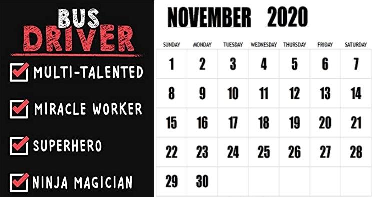 November 2020 Superb Quotes Calendar