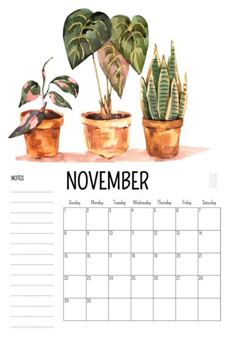 November 2020 Wall Calendar Download