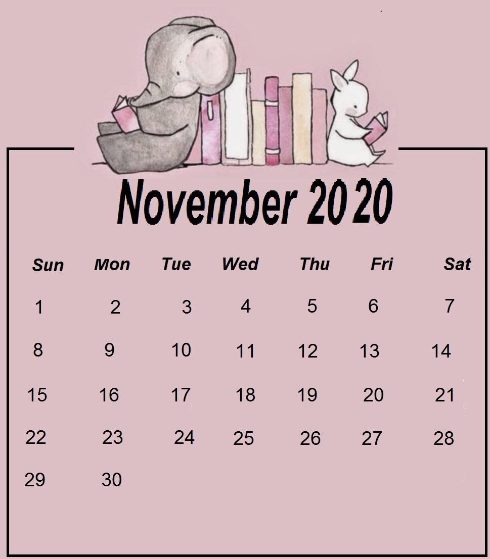 Printable November 2020 Calendar Designs
