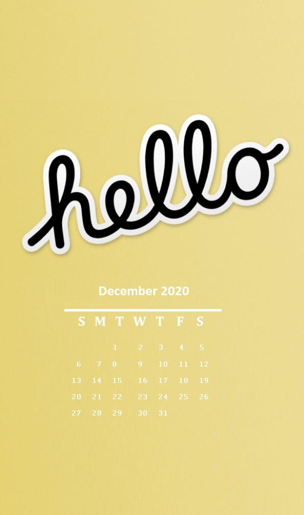iPhone Hello December 2020 Wallpaper